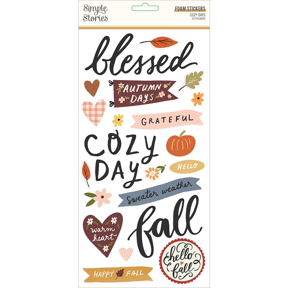 Cozy Days Foam Stickers