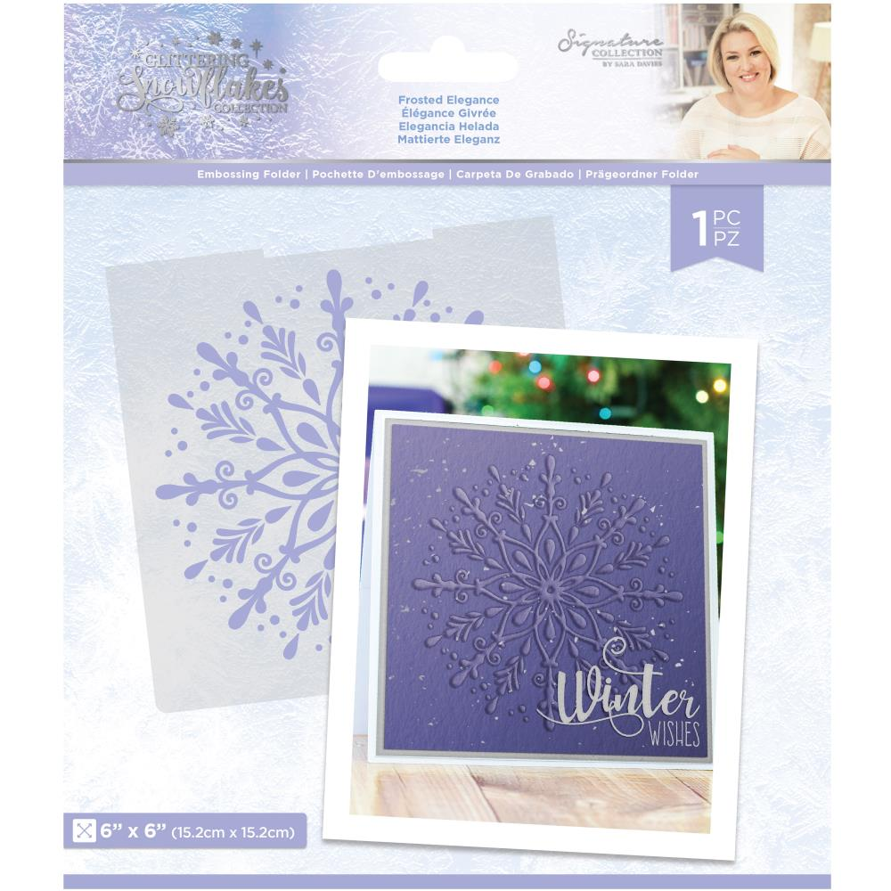 Glittering Snowflakes Frosted Elegance Embossing Folder