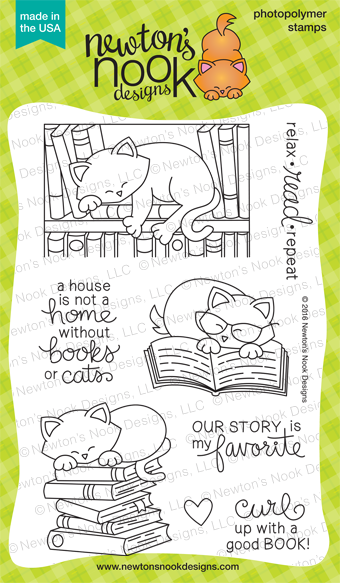 Newton's Book Club Stamp Set
