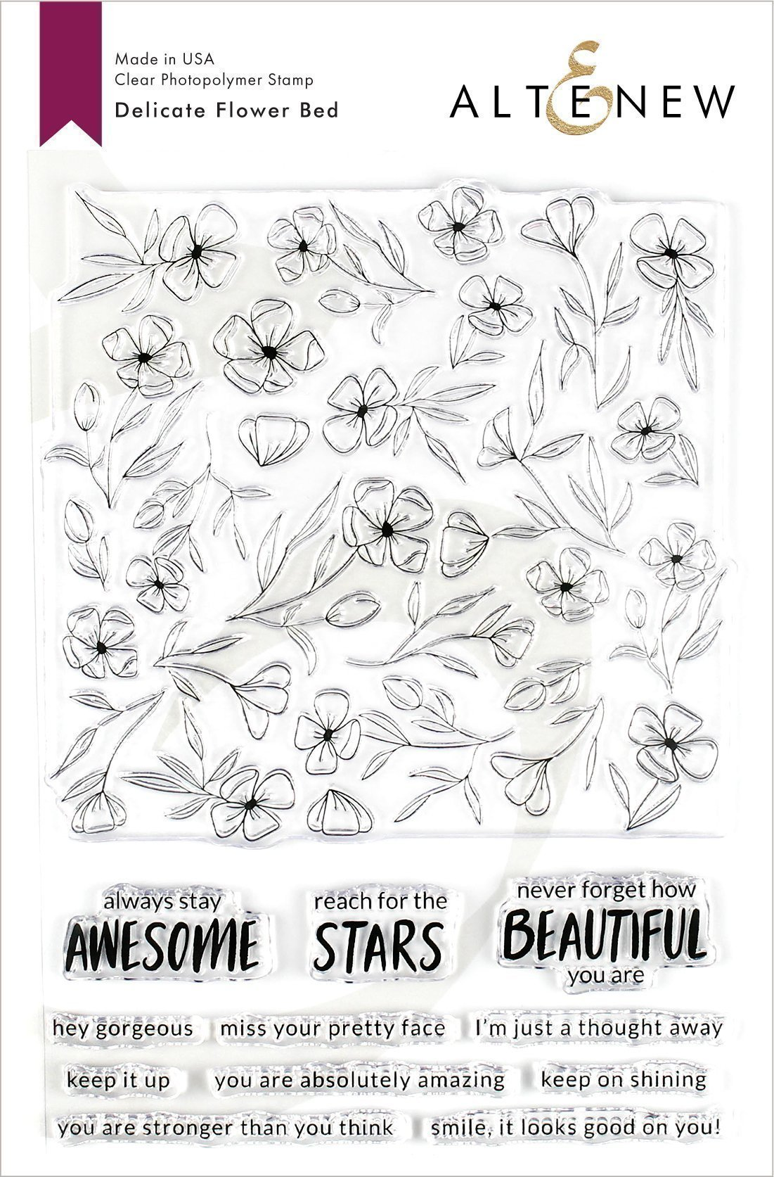 Delicate Flower Bed Stamp Set
