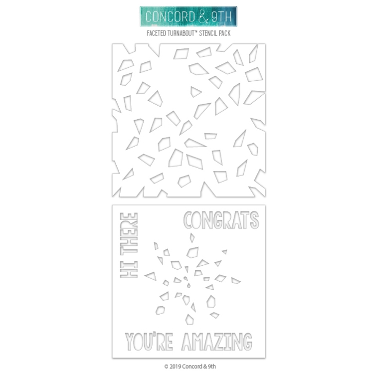 Faceted Turnabout Stencil Pack