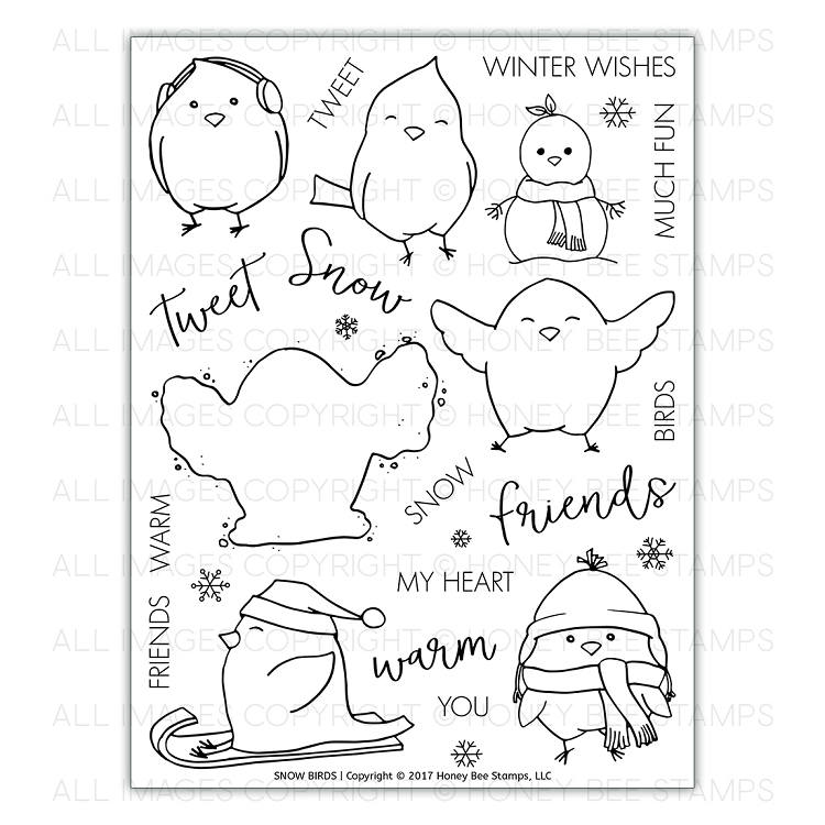 Snow Birds Stamp Set
