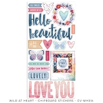 Wild At Heart Chipboard Stickers