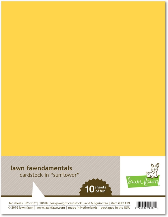 8.5 x 11 Cardstock Sunflower