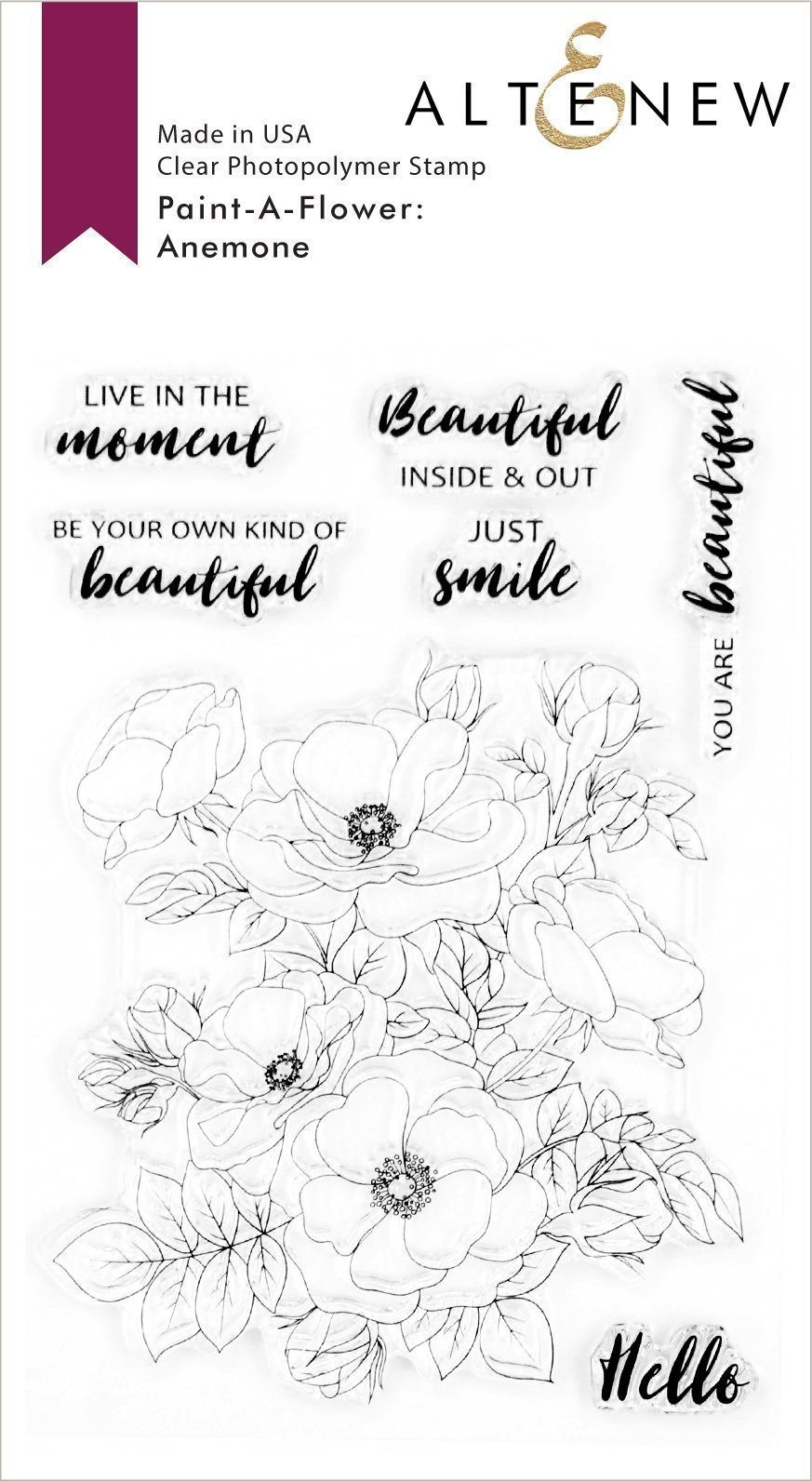 Paint-A-Flower: Anemone Stamp Set