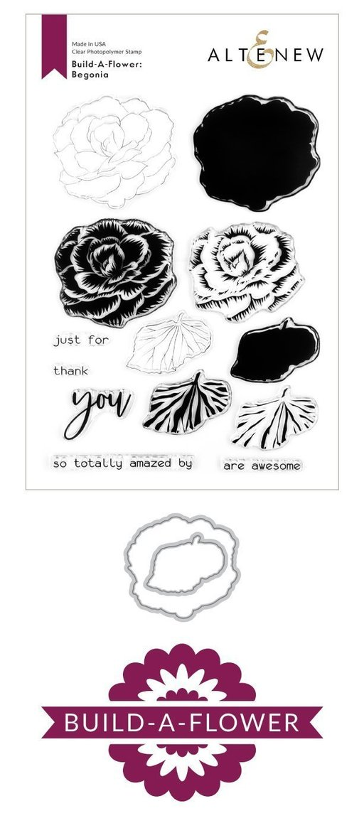 Build-A-Flower: Begonia Stamp & Die