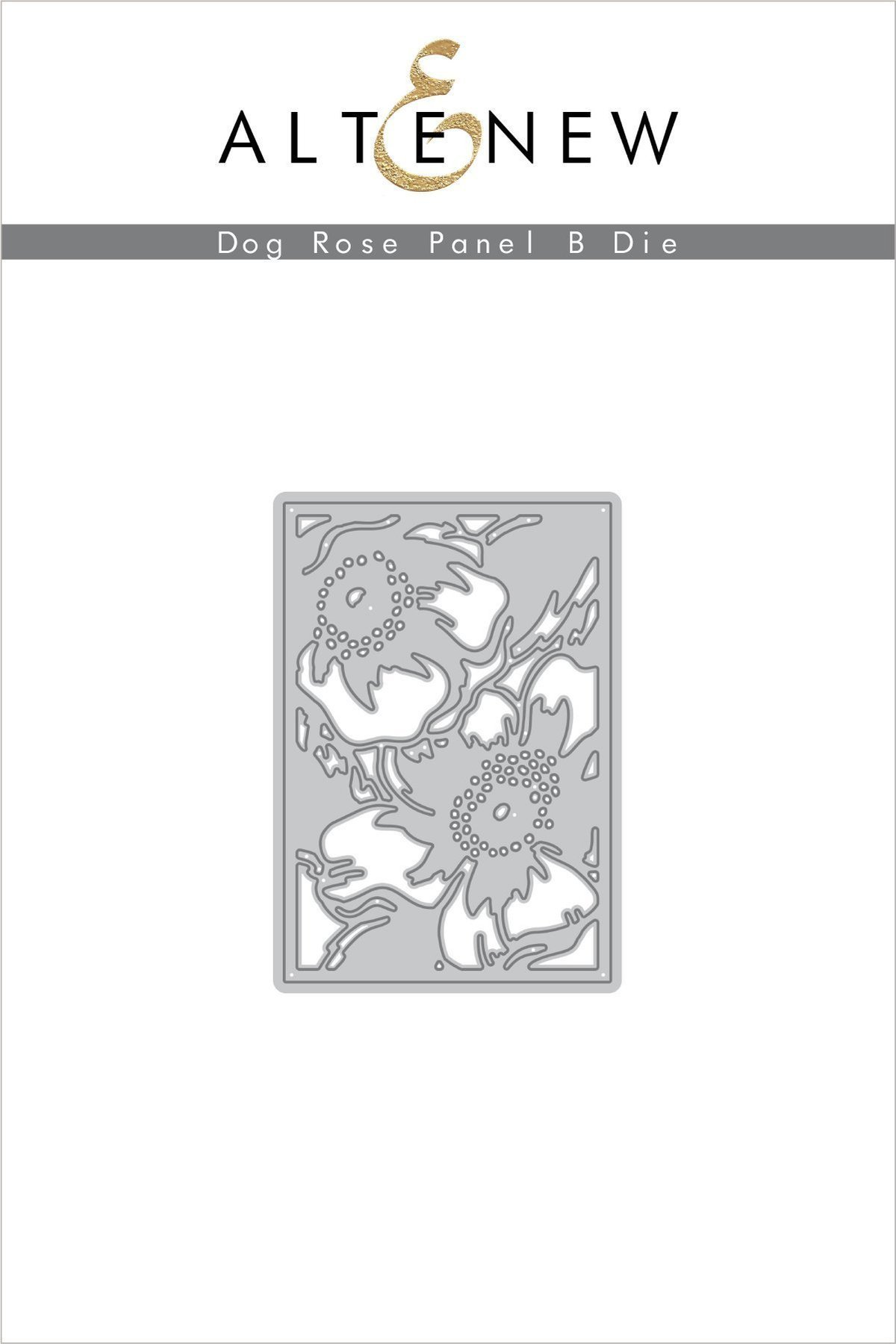 Dog Rose Panel B Die