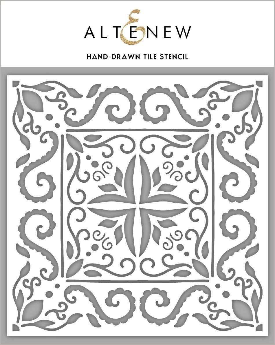 Hand-Drawn Tile Stencil