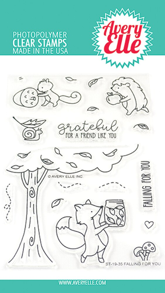 Falling For You Clear Stamps