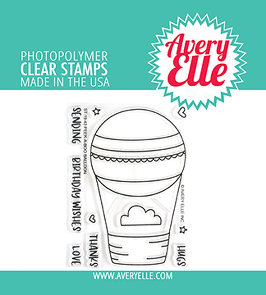 Peek-A-Boo Balloon Stamp Set