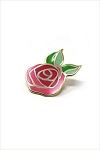 Bamboo Rose Enamel Pin