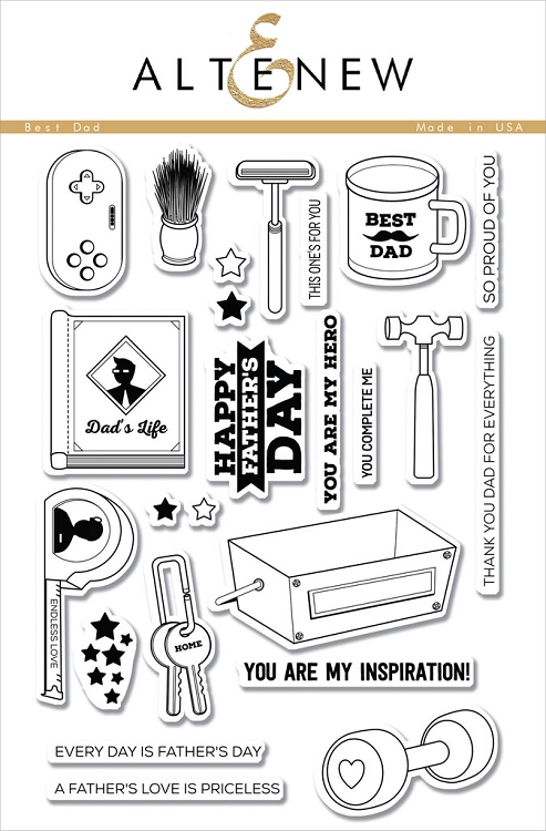 Best Dad Stamp Set