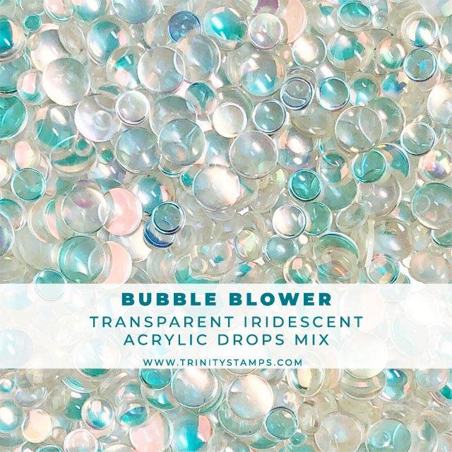 Bubble Blower - Transparent Iridescent Embellishment Mix
