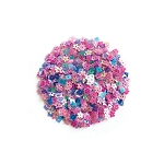 Pink Pop Flowers Sequin Mix
