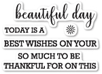 Beautiful Day Sentiments Stamp Set