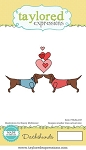 Animals in Love - Dachshunds Stamp Set