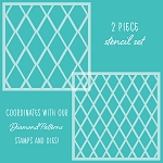 Diamond Patterns Stencil Set