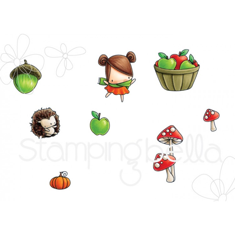 Little Bits Fall Fruit Stamp Set