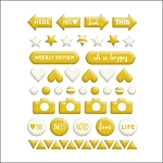 Gold Misc Shapes Puffy Stickers