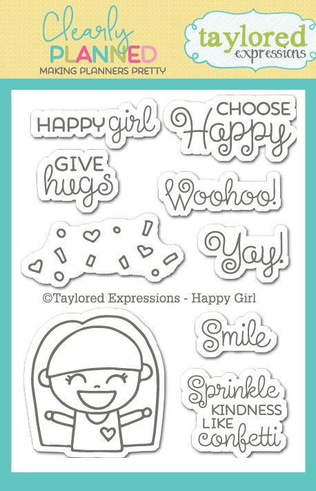 Clearly Planned Happy Girl Stamp Set