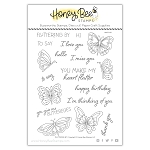 Fluttering By Stamp Set
