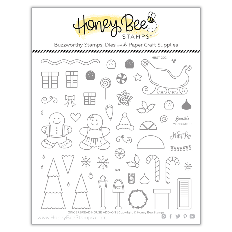 Gingerbread House AddOn Stamp Set
