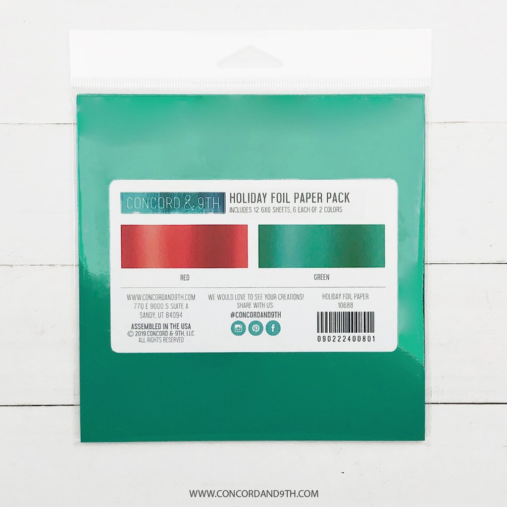 Holiday Foil 6x6 Paper Pack