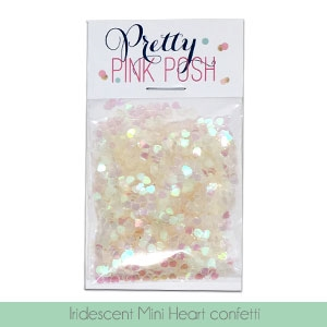 Iridescent Mini Heart Confetti