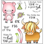Year of the Pig Ox Stamp Set