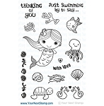 Just Swimming By Mermaid Stamp Set