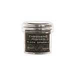 Embossing Powder Black Sparkle