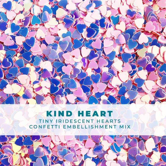 Kind Heart - Itty-Bitty Iridescent Heart Confetti