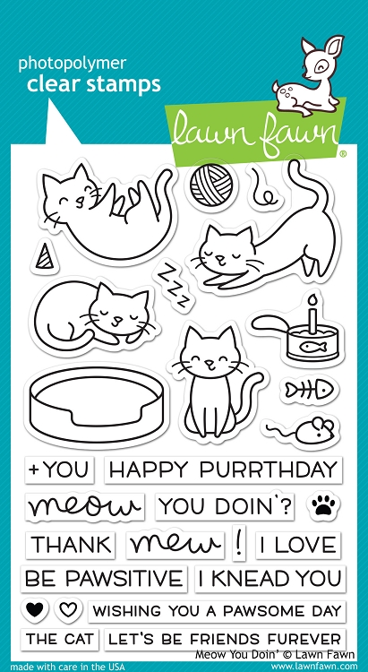 Meow You Doin' Stamp Set