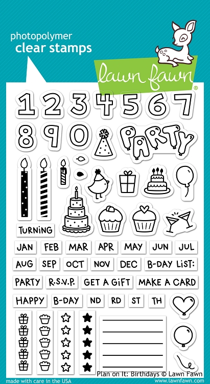 Plan On It: Birthdays Stamp Set