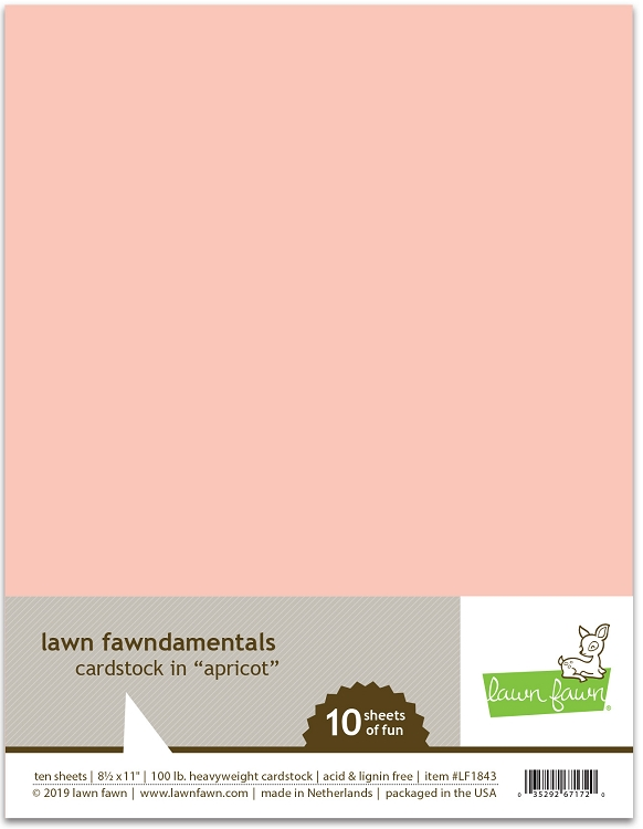 8.5 x 11 Cardstock Apricot