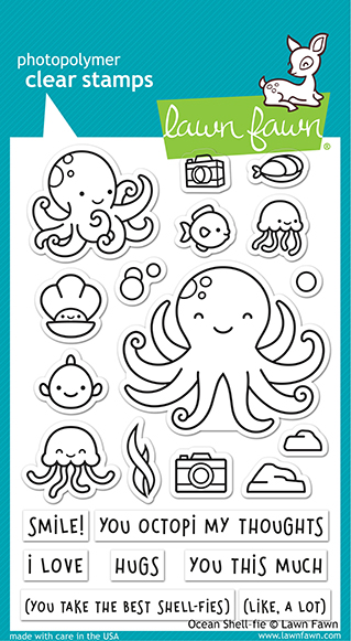 Ocean Shell-Fie Stamp Set