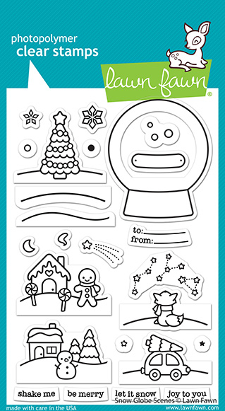 Snow Globe Scenes Stamp Set
