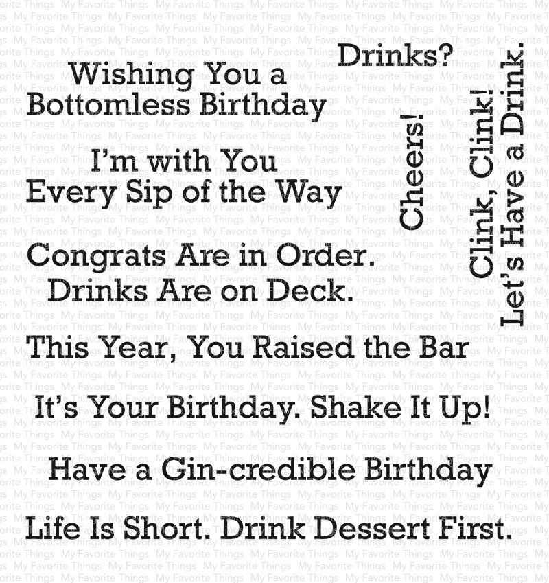 A Toast to You Stamp Set