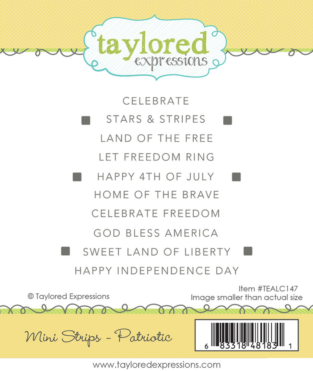 Mini Strips - Patriotic Stamp Set