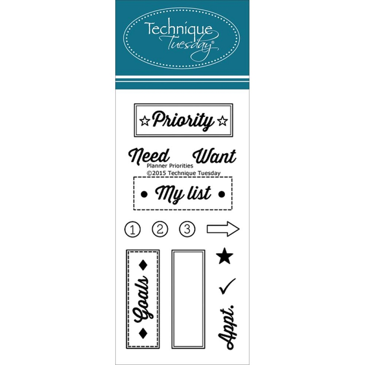 Planner Priority Stamp Set