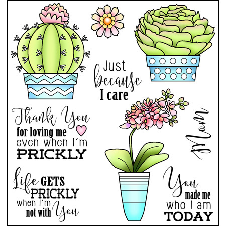 Prickly Stamp Set