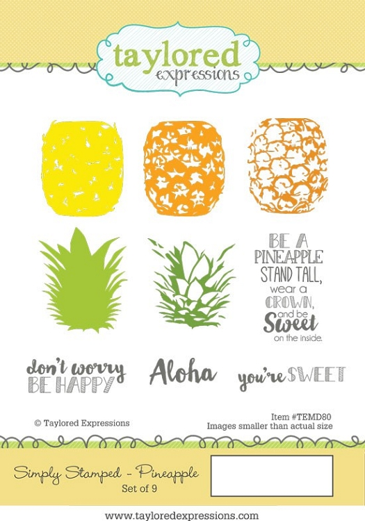 Simply Stamped Pineapples Stamp & Die