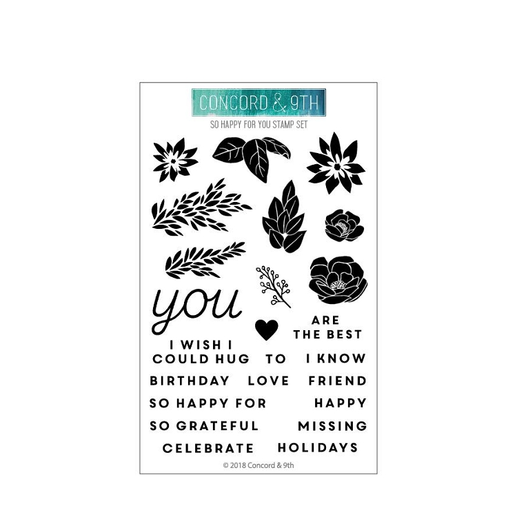 So Happy For You Stamp Set