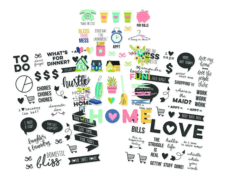Domestic Bliss Clear Stickers
