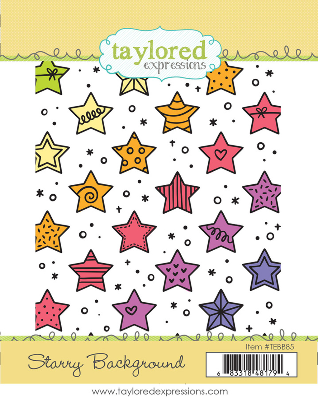 Starry Background Stamp