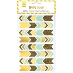 Gold Glitter & Foil Chevron Stickers