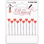 Kiss & Make Up Hearts Stickpins