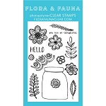 Floral Lace Jar Stamp Set