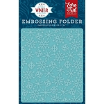 Perfect Winter Frosty Snowflakes Embossing Folder