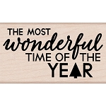 Most Wonderful Time Wood Stamp